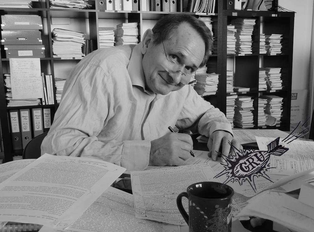 Serge Grudzinski en pleine écriture