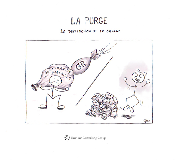Purge psychologique, la destruction de la charge